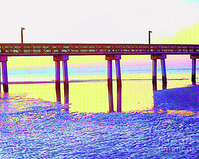 Surf Lifestyle Mixed Media - Painted Low Tide Reflected by Chris Andruskiewicz