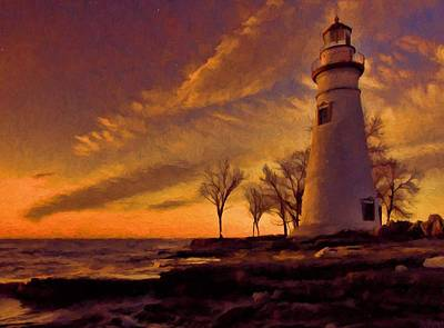 Ohio Painting - Painted Marblehead Lighthouse by Dan Sproul