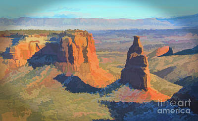Photograph - Painted Mesa by Steven Parker