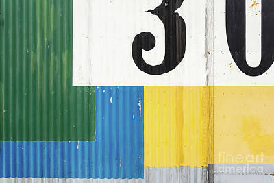 Photograph - Painted Metal Building Abstract by Edward Fielding