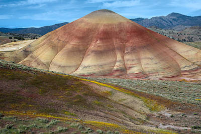 Clay Photograph - Painted Mountain by Leland D Howard