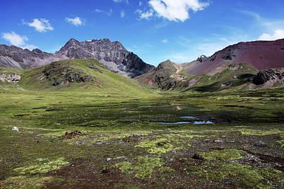 Photograph - Painted Mountains, Peru by Aidan Moran
