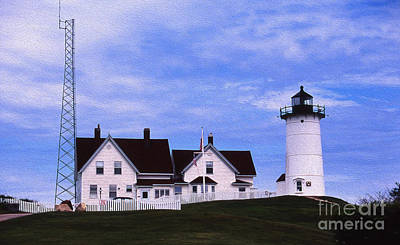 Photograph - Painted Nobska Lighthouse by Skip Willits