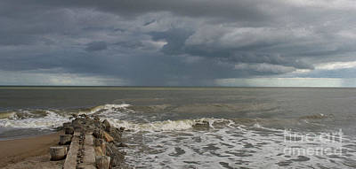 Photograph - Painted Offshore Storm Edisto by Skip Willits