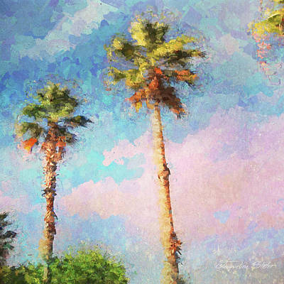 Digital Art - Painted Palms by Jacqueline Sleter