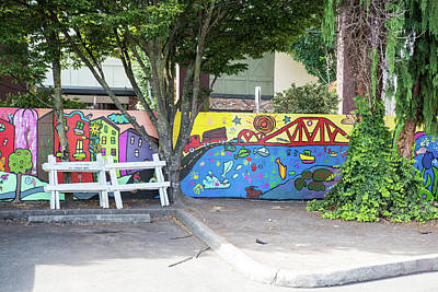 Photograph - Painted Parking Lot by Tom Cochran