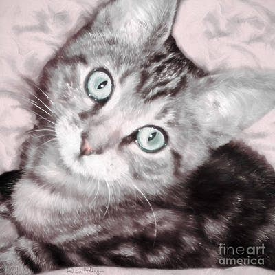 Digital Art - Pastel Bengal Kitten by Alicia Hollinger