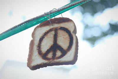 Painting - Painted Peace Sign Toast by Concert Photos