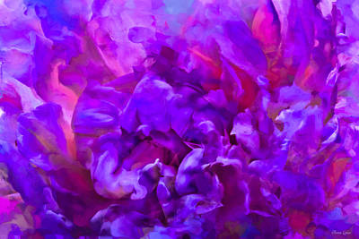 Photograph - Painted Peony Abstract by Anna Louise