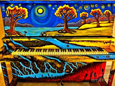 Photograph - Painted Piano by Christy Ricafrente