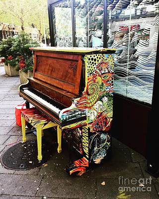 Photograph - Painted Pianos  by LeLa Becker