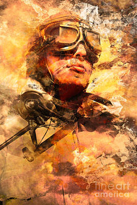 Photograph - Painted Pilots At War by Jorgo Photography - Wall Art Gallery
