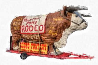 Animal Portraits Royalty Free Images - Painted Pony Rodeo Lake George Royalty-Free Image by Edward Fielding