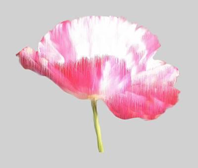 New Zealand Mixed Media - Painted Poppy T Shirt by Nancy Pauling