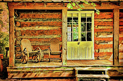 Photograph - Painted Porch by Judy Vincent