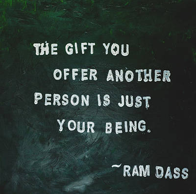 Painted Quote - Ram Dass Art Print by Melissa Moore