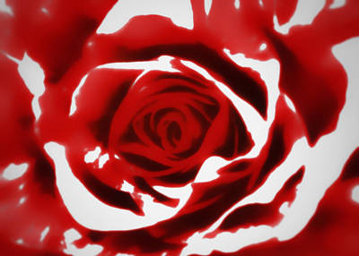 Photograph - Painted Red Rose by Nathan Little