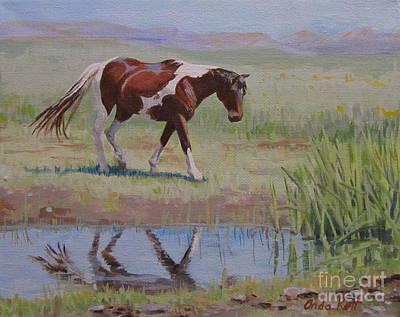 Painted Reflection Original by Anda Kett