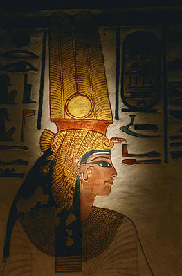 Painted Relief, Nefertari Tomb, Valley Print by Kenneth Garrett