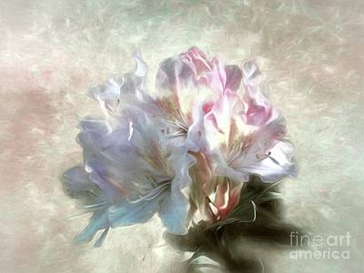 Photograph - Painted Rhododendron by Peggy Hughes