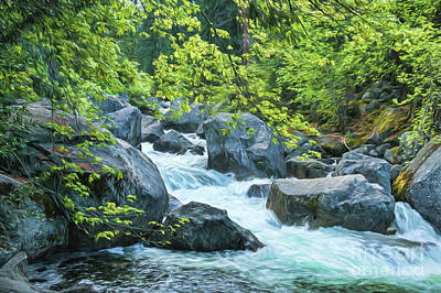 Photograph - Painted River by Sharon Seaward
