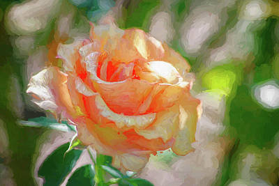 Photograph - Painted Rose by Dennis Baswell