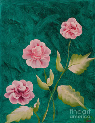 Photograph - Painted Roses by Donna Brown
