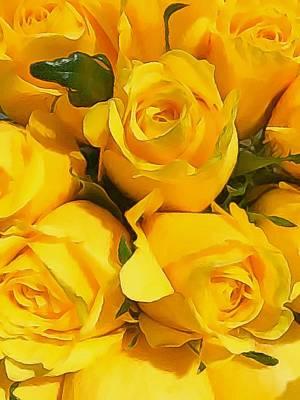 Katharine Hepburn - Yellow Roses 2 by Paul Wilford