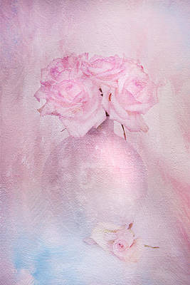 Photograph - Painted Roses by Theresa Tahara