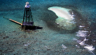 Photograph - Painted Sand Key Lighthouse by Skip Willits