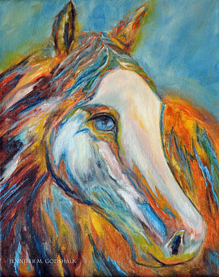 Painting - Painted Horse Sensation by Jennifer Godshalk