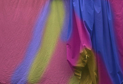 Photograph - Painted Sheets Abstract No 3 by Wayne King