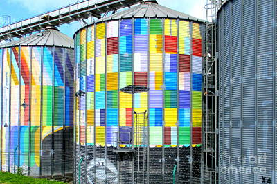 Photograph - Painted Silos by Randall Weidner