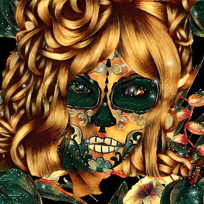 Digital Art - Painted Skull  by Artful Oasis
