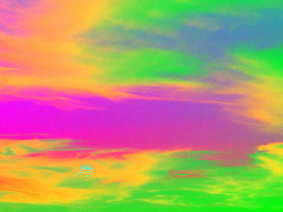Photograph - Painted Sky - Abstract by Linda Hollis