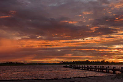 Photograph - Painted Sky Dock Seaside New Jersey by Terry DeLuco