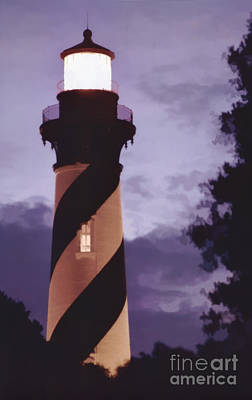 Photograph - Painted Sky Lighthouse by D Hackett