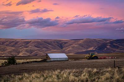 Painted Sky Over Farm Art Print
