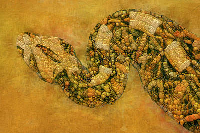 Painting - Painted Snake by Jack Zulli