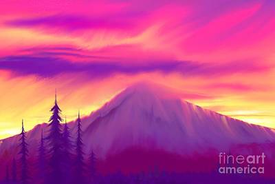 Digital Art - Painted Sunrise  by Nick Gustafson