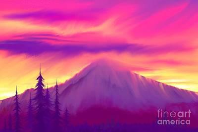 Digital Art - Painted Sunrise  by Nick Gustafson