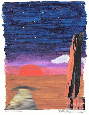 Desert Sunset Mixed Media - Painted Sunset by Katherine W Morse