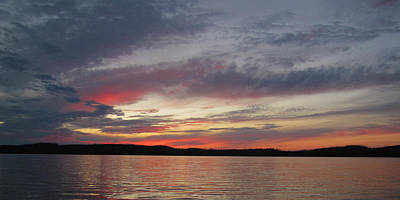 Photograph - Painted Sunset On Gunflint Lake by Shari Jardina