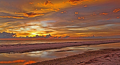 Photograph - Painted Sunset Sky Panorama by HH Photography of Florida
