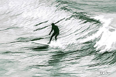 Photograph - Painted Surfer by Bill Posner