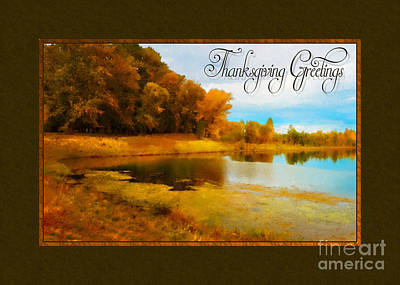 Digital Art - Painted Thanksgiving Greetings by JH Designs