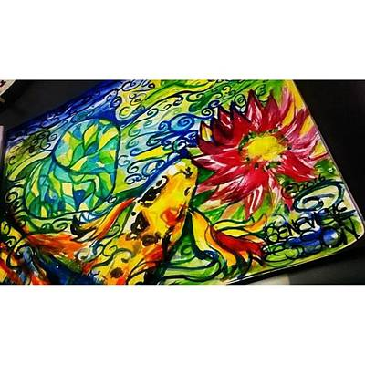 Florals Photograph - Painted This Today Live At Urban Eats! by Genevieve Esson