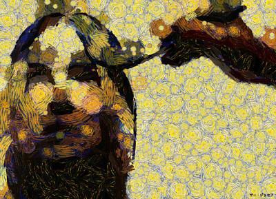 Digital Art - Painted Thoughts by Sir Josef - Social Critic -  Maha Art