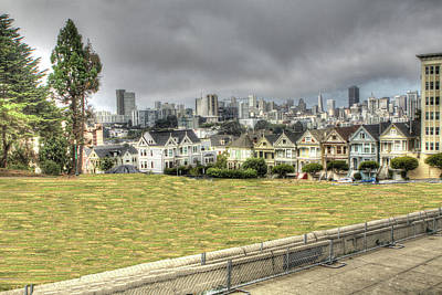 Photograph - Painted Ladies Through The Fence by SC Heffner