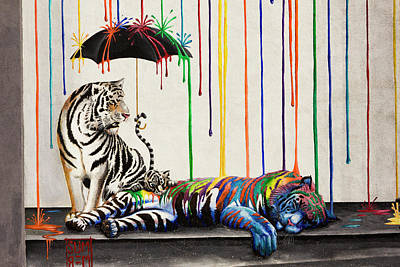 Photograph - Painted Tigers by Bryant Coffey